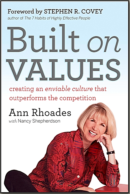 Built on values book by ann rhoades culture expert ann rhoades book built on values malvernweather Gallery